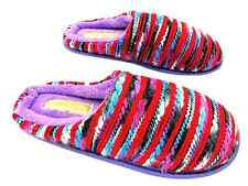 Coolers Ad30165 Women's Red Knitted Navajo Style Slip On Mule Slippers New