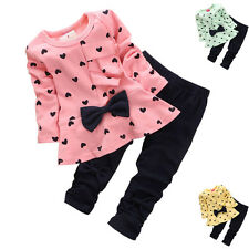 Baby Girls Clothes Girls Outfits Bowknot Children Clothes Sets Newborn-4t FT1139
