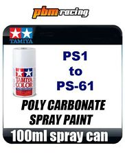 Tamiya PS-1 to PS-60 100ml Polycarbonate Lexan PS RC Car Model Spray Paint