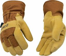 Kinco 1958 Pigskin Leather Mens Work Gloves Waterproof Winter Lined M L XL XXL