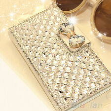 Bling Rhinestone Diamond Wallet Flip Case Cover Protector For iPhone 4 5 6 6Plus