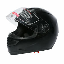 DOT Dual Visor Gloss Black Street Sport Bike Full Face Motorcycle Helmet M/L/XL
