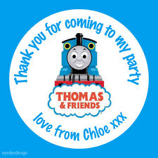 Personalised Thomas The Tank Engine Birthday Stickers Party Thank You Seals-N265