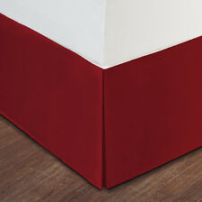 "Red Luxury Hotel Bed Skirt: Tailored Pleat, 14"" Drop"