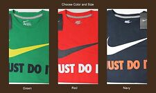 NWT $25 NIKE Just Do It T Shirt Mens Short Sleeve M L XL NEW FREE SHIPPING NEW