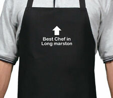 PERSONALISED BEST CHEF IN LONG MARSTON APRON XMAS BIRTHDAY GIFT