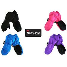 "New Kid's Winter Warm Thinsulate Waterproof Ski Snow Mittens 5"" Gauntlet 4 to 6X"