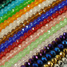 New Faceted Crystal Rondelle Loose Charm Glass Beads Jewelry 22 Colors 6mm 8mm