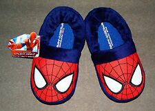 AMAZING SPIDER-MAN 2 MARVEL HERO Plush Slippers NWT Toddlers Size 7/8 or 9/10