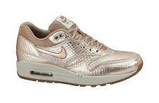 Nike 644398-900 Women's AIR MAX 1 CUT OUT PRM Metallic Red Bronze Light Bone Gum