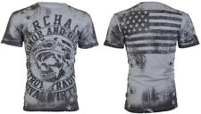 Archaic AFFLICTION Men T-Shirt RACER American Customs USA FLAG Biker M-3XL $40 b