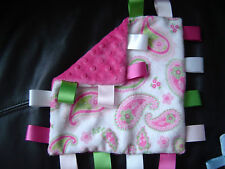 Minky Taggy Comforter Blankets, various colours and patterns