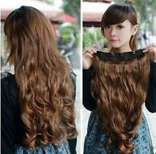 Women Clip in Synthetic Human Hair Extensions Long Wavy Curly Hair 5 Clips
