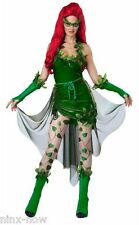 Lethal Beauty Poison Ivy fancy dress costume INCLUDES WIG XS, S, M, L, XL