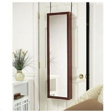 Mirror Armoire Door Hanging Wall Mount Cabinet Jewelry Storage Cherry Oak White