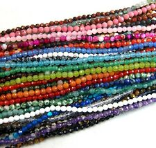 "4mm Faceted Natural Gemstones Faceted Round Beads 15"" ~ 16"" Pick Stone"