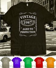VINTAGE 1985 AGED TO PERFECTION T-shirt 30th BIRTHDAY Present Gift 30 years old