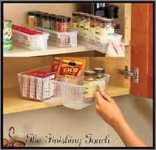 SETS OF ALL SIZES PERFECT PANTRY BASKETS KITCHEN FRIDGE CABINET CUPBOARD STORAGE