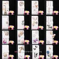Bling Crystal Bow Wallet Leather Flip Case Cover for various Vodafone cell phone