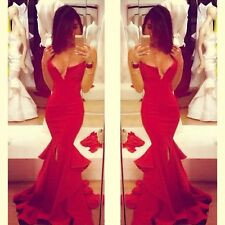 Celebrity Red Carpet Mermaid Formal Prom Ball Gown Cocktail Party Evening Dress