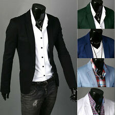 Men's Casual Slim Fit One Button Suit Blazer Coat Jacket Tops New Stylish