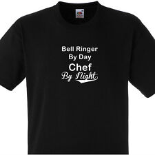 BELL RINGER BY DAY CHEF BY NIGHT T SHIRT PERSONALISED COOKS TEE