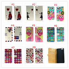 Magnetic Cartoon Flower slot wallet Leather stand flip cover case for Samsung