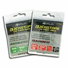 "Korum Quick Stop Hair Rigs 4"" OR 15"" BARBLESS all sizes quickstops"