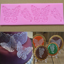 DIY Silicone Butterfly Lace Fondant Embossed Sugarcraft Cake Decorating Mold