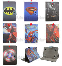 "Folio Fold Super Hero Series Cute Cartoon Leather Case Cover For 7.9"" 8"" Tablet"
