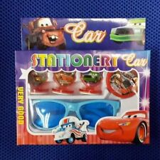 Lot cartoon Red Car students Toy Seal Stamper Glasses Stationery Sets R75