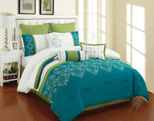 13 Piece Parksville Turquoise and Green Bed in a Bag Set