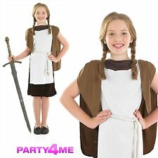 Child 10-12 Years Viking Girl New Fancy Dress Costume Saxon National Kids Girls