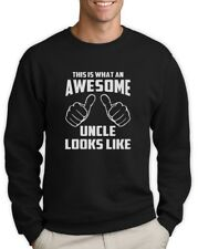 Awesome Uncle Sweatshirt Birthday Gift Idea Niece Nephew Holiday Crew Jumper Top