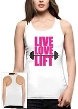 Live Love Lift Racerback Tank Top Gym Fitness Body Building Muscles Workout Sexy