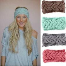 New Crochet Headband Knit Hairband Flower Winter Women Ear Warmer Headwrap G19