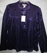 New Purple  Velour Bed Jacket  Small or Medium