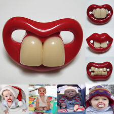 Silicone Nipple Funny Mouth Gagtooth Bucktooth Pacifiers Infant Kid Teether