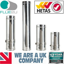 Stainless Steel Twin Wall Flue 5 TwinWall Flue System Woodburner Stoves 5 inch