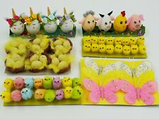 EASTER CHICKS / BUNNYS/ BUTTERFLYS / NESTS for bonnets , hats & craft's