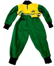 New Kids Boiler Suit - Green / Yellow Children's Green Boiler Suit Kids Overalls