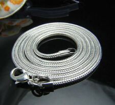 Wholesale New 3MM 925Sterling Silver Snake Necklace&Chain 16-24in!Free Shipping