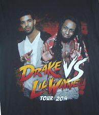 DRAKE vs LIL WAYNE 2014 TOUR T-SHIRTS w/ cities listed on back - Size Med