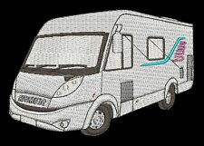 Hymer Camper Van Embroidered & Personalised Sweat Shirt