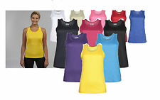 Womens Ladies AWD Casual Girlie Cool Vest Gym Running Tops Size XS-XL JC015