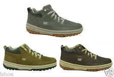 MENS CATERPILLAR CAT HAVERING LEATHER CASUAL MID TOP TRAINERS SHOES SIZE 6 - 11