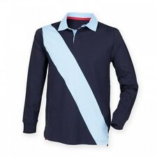 (Free PnP) Front Row Mens Diagonal Stripe House Sports Rugby Polo Shirt S-2XL