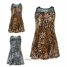 New Girls Kids Leopard Print Retro Dress with Net Top Age Size Age 3-6 Years