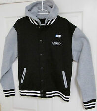 FORD EMBROIDERED ADULT MEN'S VARSITY RALLY DETACHABLE HOODED JACKET