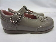 Girls Startrite T Bar Shoes In Taupe Patent Leather 'Pixie' F,G&H Width Fitting